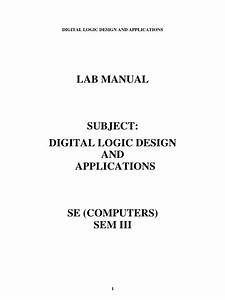 Logic Design Lab Manual