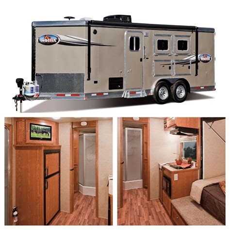 horse pull trailer trailers bumper quarters living horses custom diy lakotaofohio yes tack rodeo quarter lakota barn check dream campers