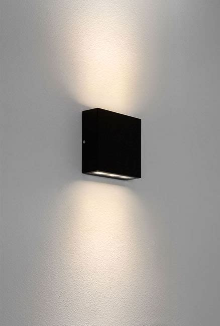 elis twin led ip54 outdoor square wall up and down light