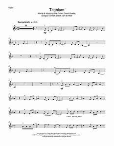 Titanium Feat Sia Sheet Music By David Guetta Violin