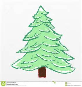 christmas tree sketch royalty free stock photos image 35868658