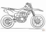 Coloring Dirt Bike Pages Honda Printable Drawing Paper Tutorials sketch template