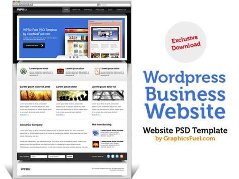 wordpress business website psd template psd file