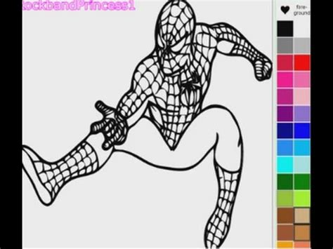 spiderman coloring games spiderman cartoon games