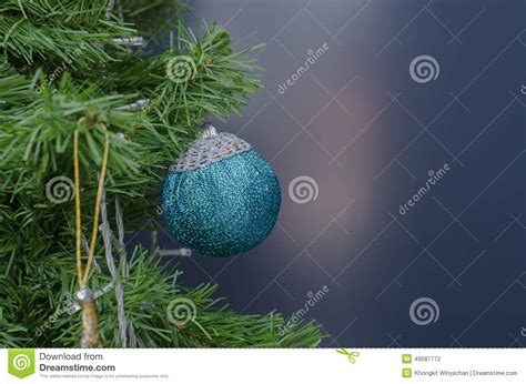 blue christmas tree baubles stock photo image 49587772