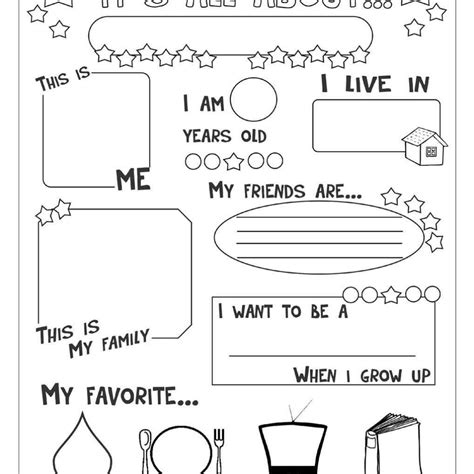 Favorite Free Printable All About Me Worksheet Goodsnyccom