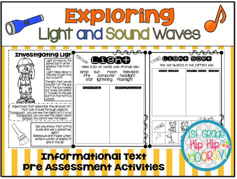 light and sound 1st grade hip hip hooray exploring light and sound waves