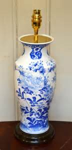 Table Vase by Antiques Atlas Blue And White Vase Converted Into A