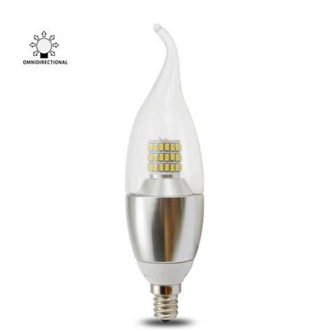 torpedo shape 7 watt dimmable e12 led chandelier light