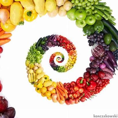 Fruits Healthy Veggies Vegetables Rainbow Question Spiral
