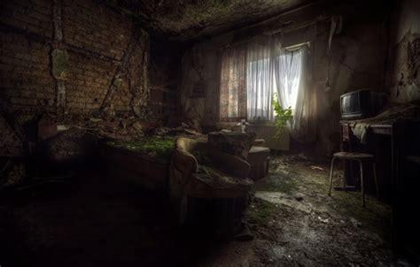 wallpaper horror  room decayed buildings