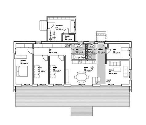 Moderne Bungalows Grundrisse by Grundriss Baufritz Moderner Bungalow Haus