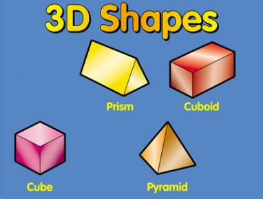 Three Dimensional Shapes  Search Results  Calendar 2015