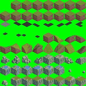 modified isometric 64x64 outside tileset opengameart org