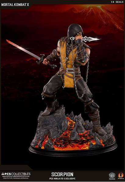 Scorpion Mortal Kombat Statue Toys Pcs Pop