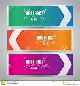 Three Color Design Banner Web Template With Modern Anad