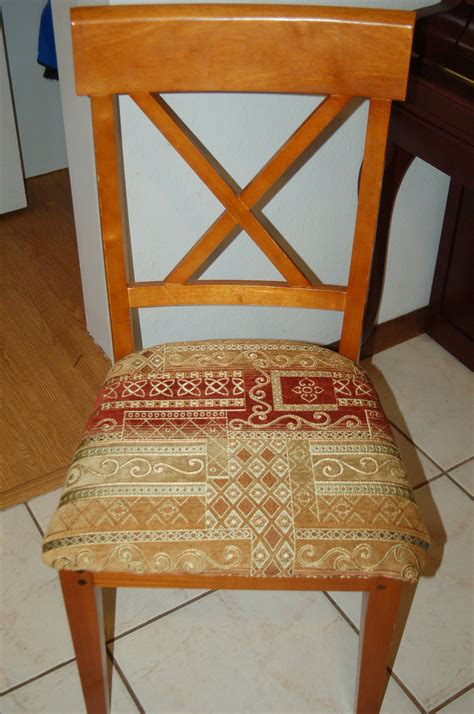 simple tutorial on how to reupholster dining room chairs