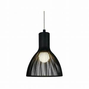 Modern black ceiling pendant light in cage design for Black pendant light design