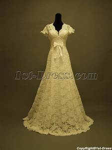 short lace wedding dress with sleeves vintage inspired1st With vintage inspired lace wedding dresses