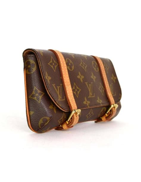 louis vuitton brown monogram murrell belt bag  ghw