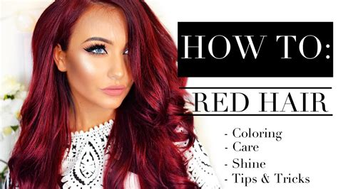 red hair coloring care shine tips tricks