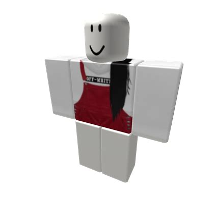 White Off White hoodie / overalls + black ext - Roblox