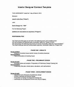 interior decorating contract template 7 interior designer contract templates word pages pdf