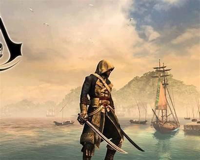 Creed Flag 4k Assassin Iv Ultra Mobile