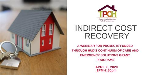 TPCH Hosts Indirect Cost Recovery Training, April 8, 2021 ...