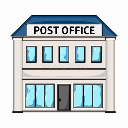 Office Cartoon Icon Postman Building Mail Clipart