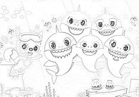 Coloring Pages: Baby Shark Fingerling Coloring Pages Free