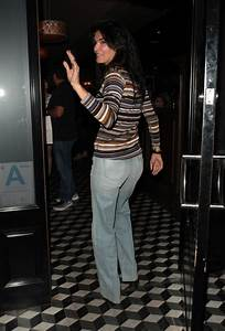 ANGIE HARMON at Craig's Restaurant in West Hollywood 10/25 ...