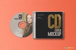 free cd jewel case label sticker mockup zippypixels With cd case labels