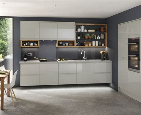 gray tile kitchen clerkenwell gloss grey kitchen contemporary kitchens