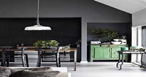 peinture de cuisine tendance peinture cuisine le gris anthracite une couleur déco