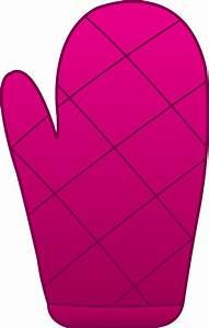 Pink Oven Mitt - Free Clip Art
