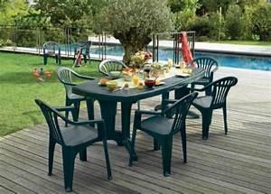 Salon De Jardin Plastique : salon de jardin gamm vert ~ Teatrodelosmanantiales.com Idées de Décoration