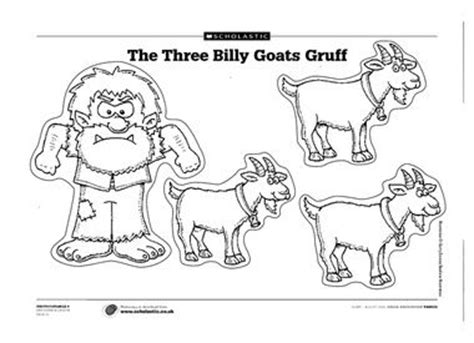 three billy goats gruff activities for preschool goats cut outs and printables on 513