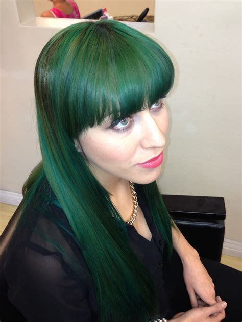 Dark Emerald Green Hair Fabulos Hair Extensions Pic