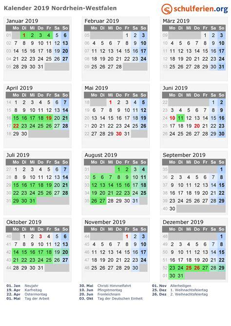 kalender ferien nordrhein westfalen feiertage