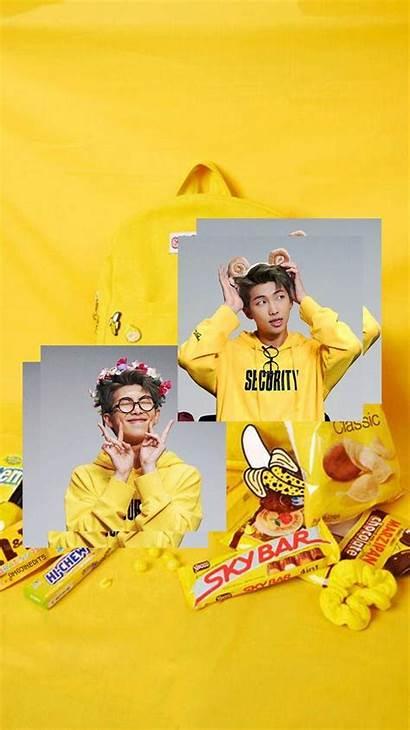 Kim Bts Aesthetic Rm Namjoon Yellow Desktop