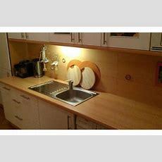 Arbeitsplatten Küche, Helle Buche, Backofen + Ceranfeld
