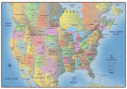 Canada Map States United Mexico Northern Usa