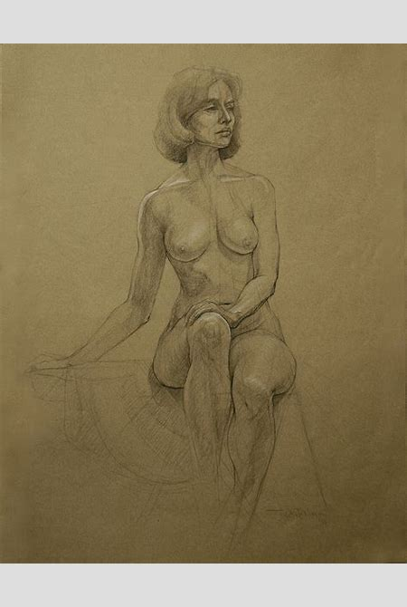Judith Fritchman Artwork: Nude 12 | Original Drawing Pencil | Nudes Art