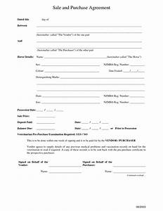 10 best images of purchase and sale agreement form free With private home sale contract template