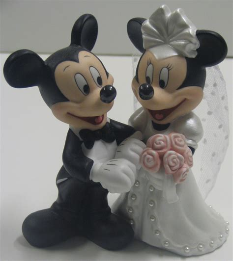 Your WDW Store   Disney Cake Topper   Porcelain Figure   Mickey Minnie Wedding