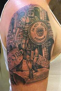Roman soldier tattoo. Not keen on the soldier but like the ...
