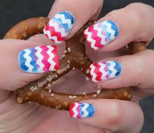 4th of July Nails with Chevron