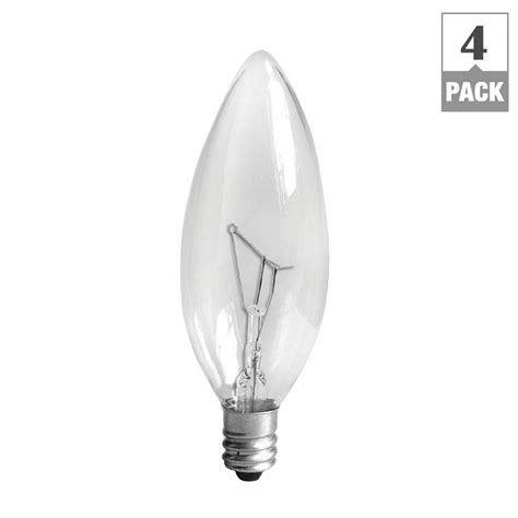 ge 25 watt incandescent b10 candelabra base