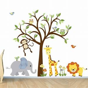kids room wall decal safari animal decal nursery wall decal With awesome wldlife wall decals